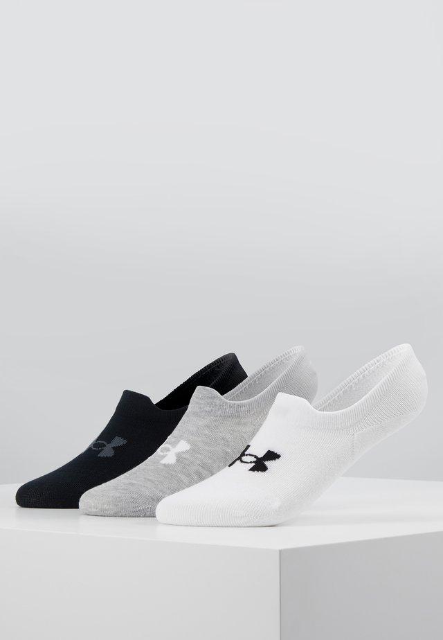 3 PACk - Socquettes - white/steel full heather/black