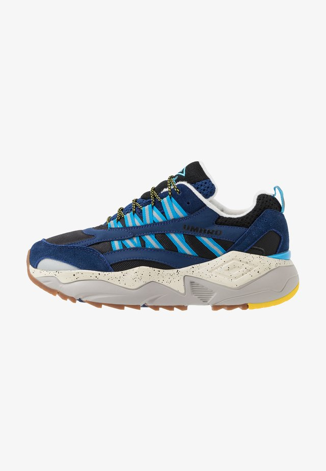 NEPTUNE OUTDOOR - Trainers - dark navy/black/sky blue/fluro yellow