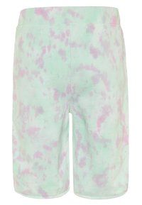 Guess - JUNIOR ACTIVE SHORTS MINIME - Tracksuit bottoms - green/pink cloud - 1
