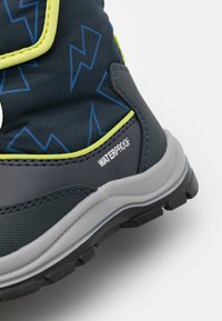 Geox - FLANFIL BOY WPF - Winter boots - navy/lime - 5
