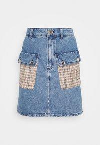 sandro - FIORINA - Mini skirt - bleu denim - 3
