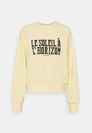 LOOSE FIT CREW NECK - Sweatshirt - sunshine yellow
