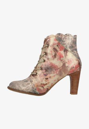Kotníková obuv na vysokém podpatku - marron