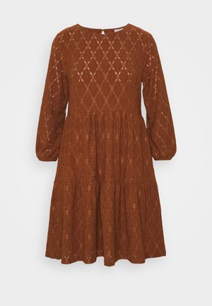 VISOLARA 3/4 SLEEVE DRESS - Kjole - tortoise shell