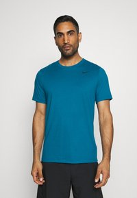 Nike Performance - TEE CREW SOLID - Basic T-shirt - green abyss/black - 0