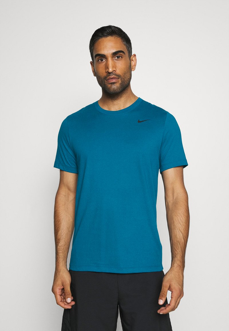 Nike Performance - DRY TEE CREW SOLID - Basic T-shirt - green abyss/black