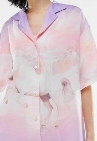 Bershka - Button-down blouse - mauve - 3