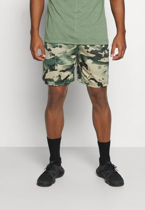 DRY SHORT CAMO - Sports shorts - sequoia/black
