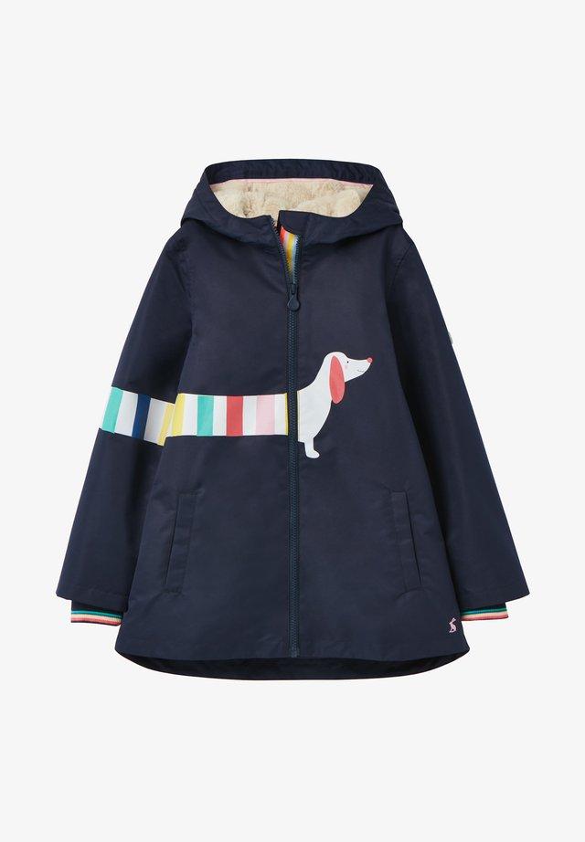 WUNDERSCHÖN BEDRUCKTE WEATHERLY - Waterproof jacket - französisch marineblau