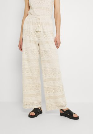 VMHONEY LACE WIDE PANTS - Trousers - sandshell