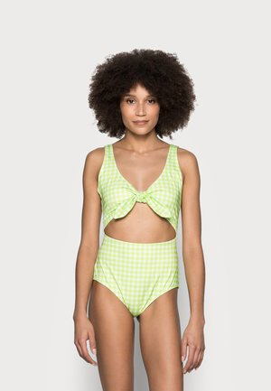KIKKI SWIMSUIT - Swimsuit - green/white