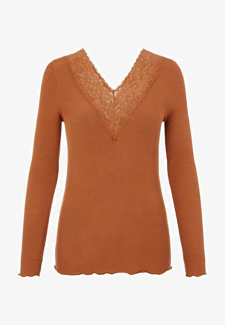 Pieces - PCSIRI - Long sleeved top - brown