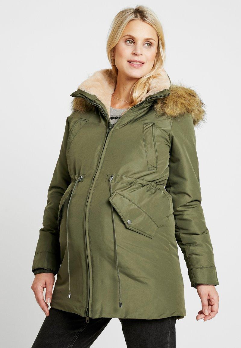 LOVE2WAIT - DOUBLE ZIPPER PADDED PIPING - Płaszcz zimowy - green