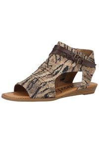Blowfish Malibu - Ankle cuff sandals - tiger safari blanket/tobac dyecut - 5