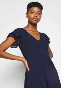 Nly by Nelly - DOUBLE FLOUNCE SLEEVE DRESS - Cocktail dress / Party dress - navy - 3