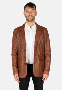 LEATHER HYPE - HYPE BLAZER - Leather jacket - cognac brown - 0