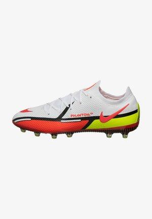 PHANTOM GT2 ELITE AG-PRO - Moulded stud football boots - white / bright crimson / volt