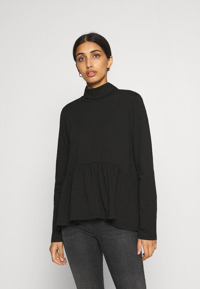 PCSERENE ROLL NECK - Long sleeved top - black