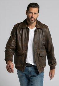 JP1880 - Leather jacket - marron - 0