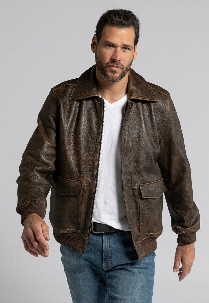 JP1880 - Leather jacket - marron