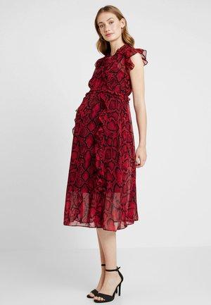 SNAKE MDI DREES - Day dress - red