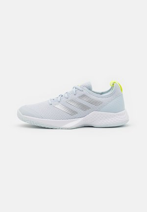 COURT CONTROL  - Multicourt tennis shoes - footwear white/silver metallic/half blue