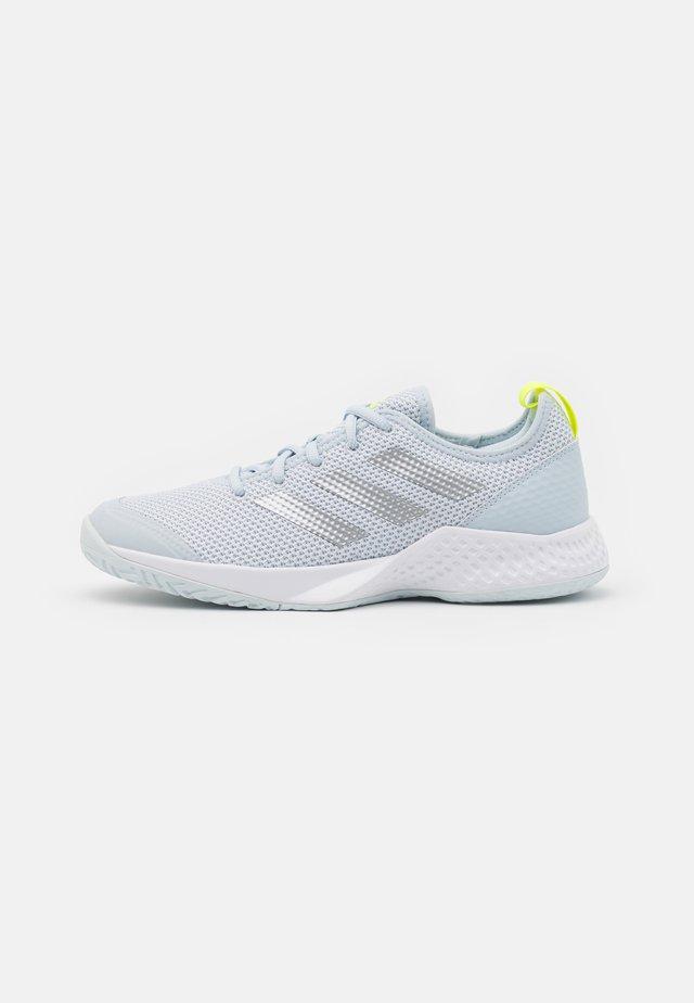 COURT CONTROL  - Tennisschoenen voor alle ondergronden - footwear white/silver metallic/half blue