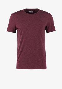 Basic T-shirt - bordeaux melange