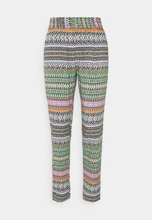 JDYSTAAR LIFE PANT - Trousers - cloud dancer/multicolor