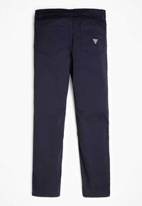Guess - PANTALON EN SATIN - Pantalones - blue - 1