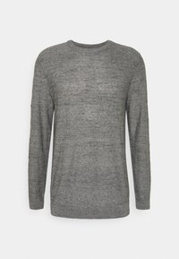 SLHBUDDY CREW NECK - Jumper - medium grey melange/uneven budding
