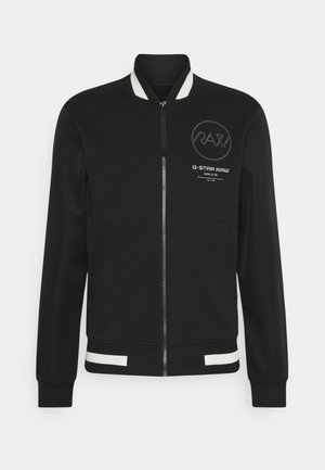BASEBALL ZIP THROUGH  - Hoodie met rits - heavy sherland black