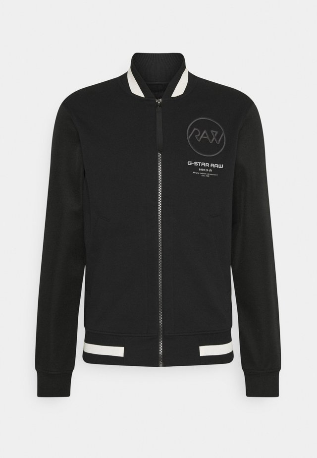 BASEBALL ZIP THROUGH  - Zip-up hoodie - heavy sherland black