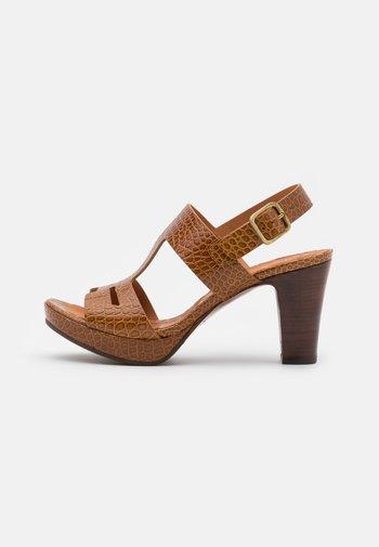 EDA - Platform sandals - nilo ocre