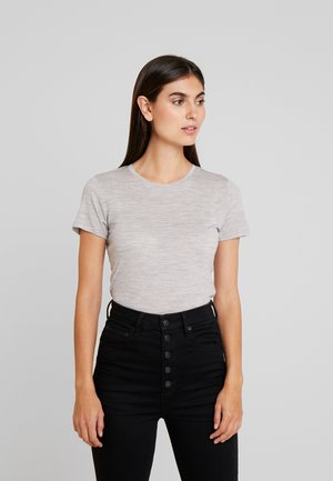 CUNANCIE - Basic T-shirt - grey melange
