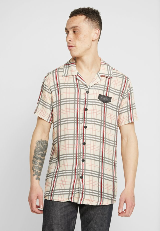 BRITISH TARTAN HAWAII - Shirt - beige