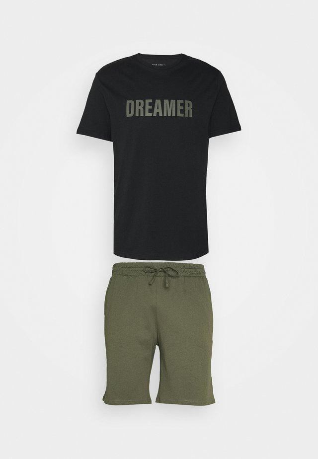 Pyjama - black/khaki