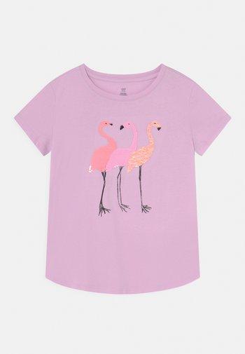 GIRLS INTERACTIVE - Print T-shirt - light iris