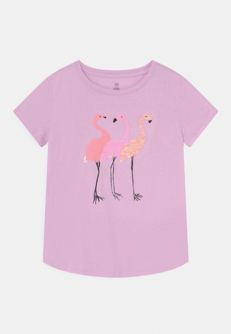 GAP - GIRLS INTERACTIVE - Print T-shirt - light iris