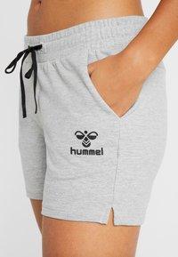 Hummel - HMLNICA  - Sports shorts - grey melange - 4