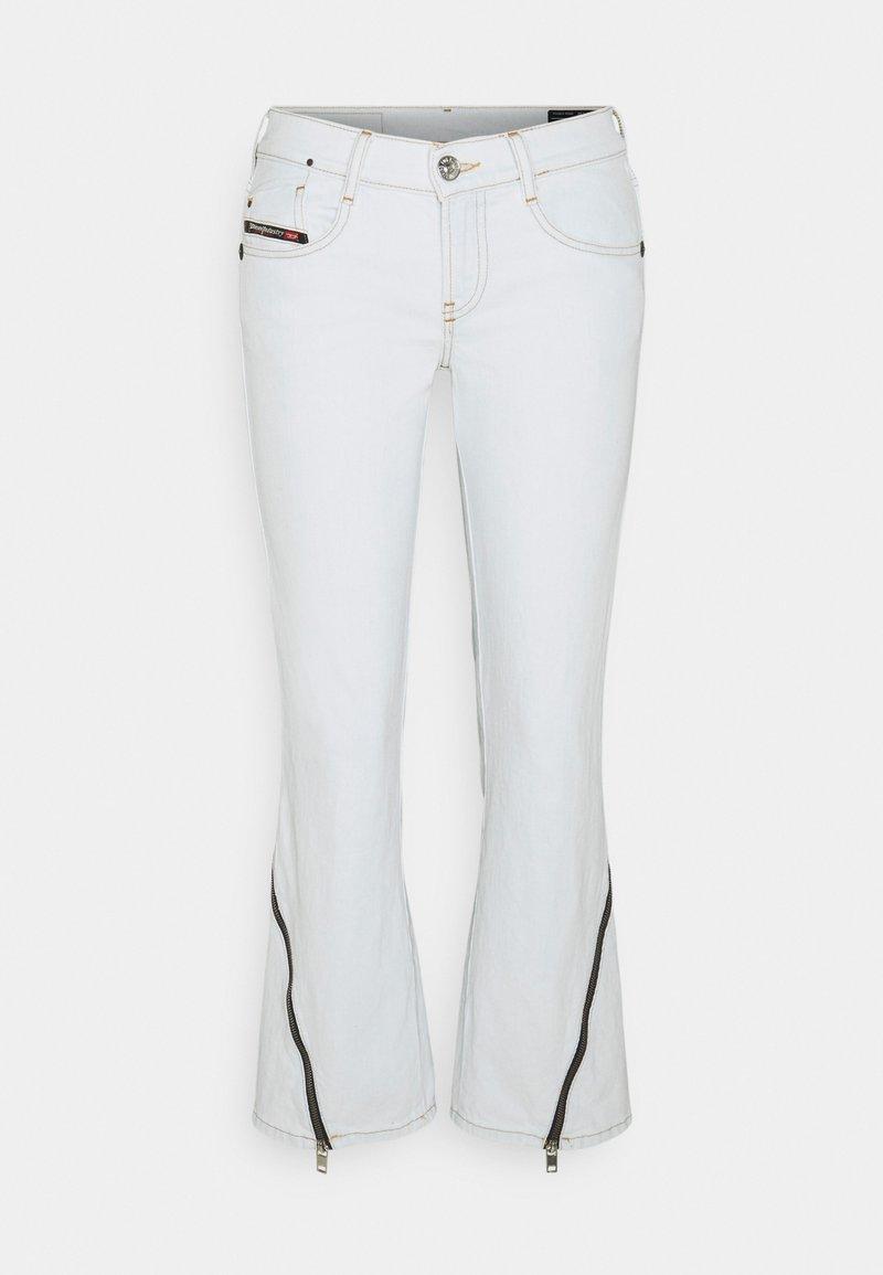 Diesel - D-EBBEY - Flared Jeans - white