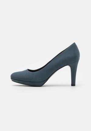 Zapatos altos - blue grey
