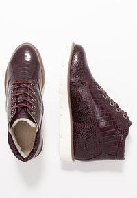 Bianco - BIAASTA WARM WEDGE - Ankle boot - burgundy - 3