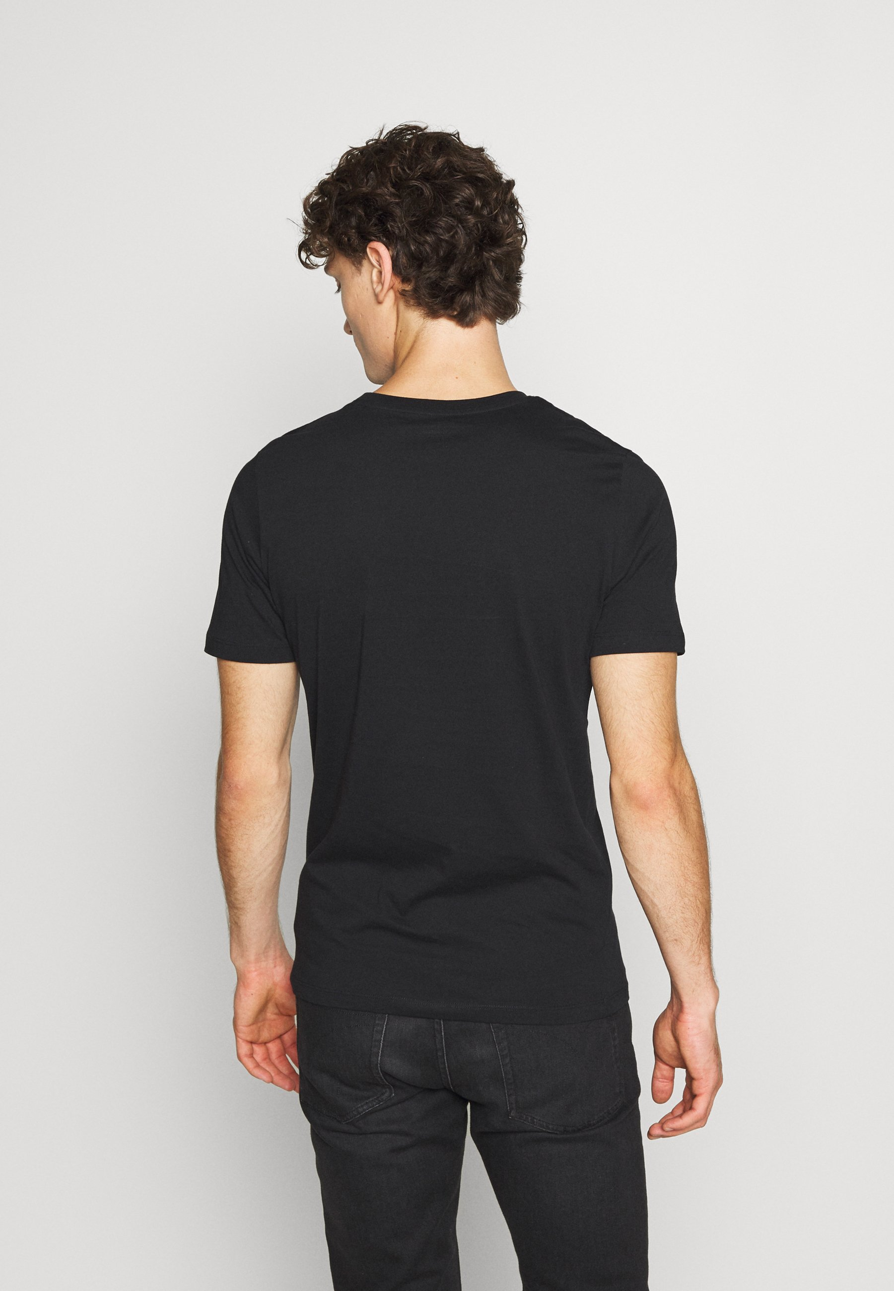 Jack & Jones JCOTUNEL TEE SS CREW NECK - Print T-shirt - black 9HloP