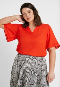CAPSULE by Simply Be - LADDER INSERT TUNIC - Bluser - orange - 0