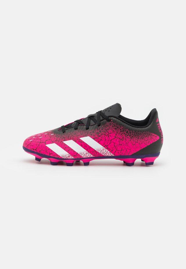 PREDATOR FREAK .4 FXG - Botas de fútbol con tacos - shock pink/footwear white/core black