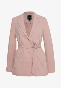 New Look - CREPE TIE BELT - Blazer - pale pink - 0