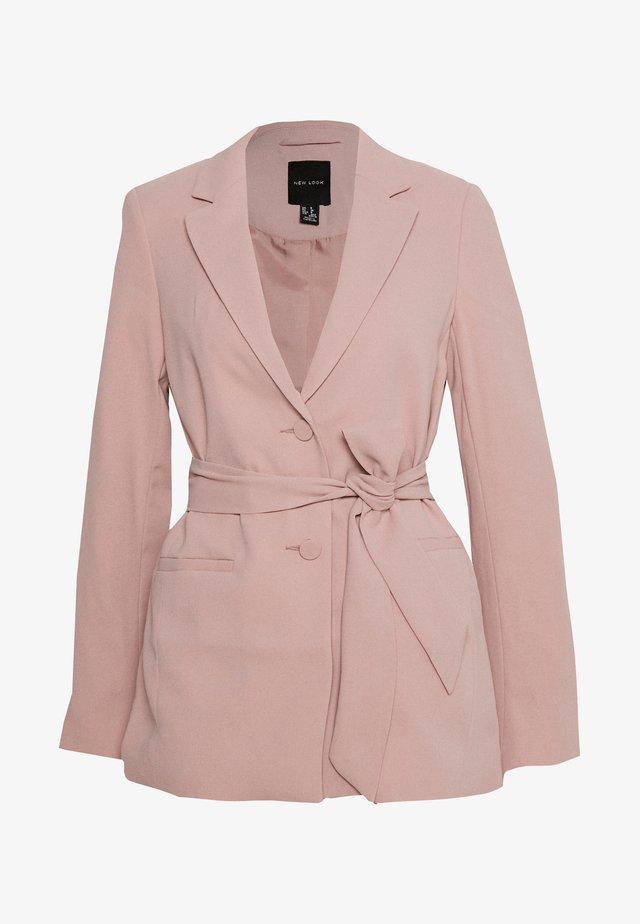 CREPE TIE BELT - Blazer - pale pink