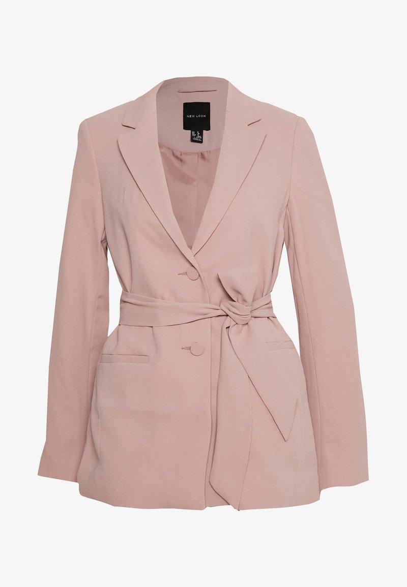 New Look - CREPE TIE BELT - Blazer - pale pink