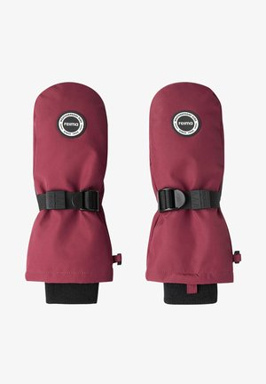 2 IN 1  - Mittens - jam red
